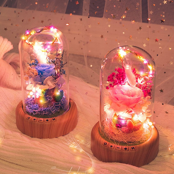 Bloom - LED Bluetooth Rose Bottle Lamp
